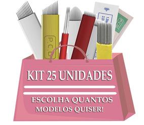 Kit 25 X Lamina Tebori Micro Aguha 7,11,12, Hard E Flex