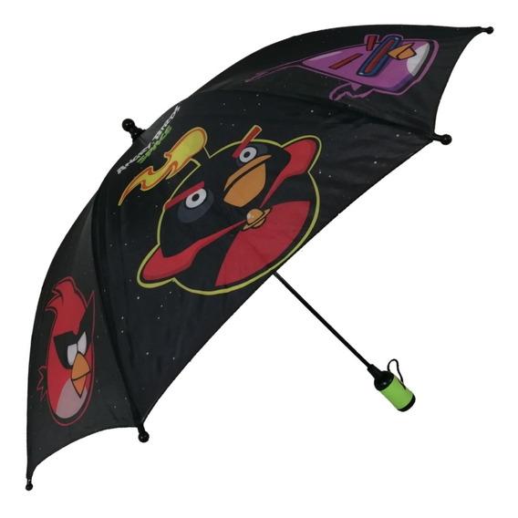 Sombrilla Paraguas Angry Birds Infantil Negro Espacial Moda