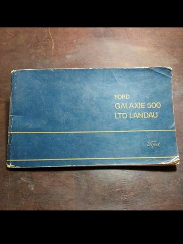 Manual Do Proprietário Ford Galaxie 500 Ltd Landau 1972