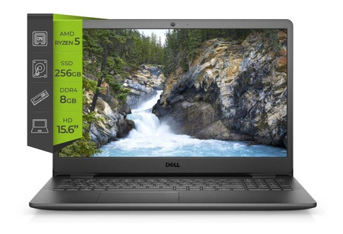 Notebook Dell Inspiron 15 Ryzen 5 Radeon Vega 8 8gb 256ssd