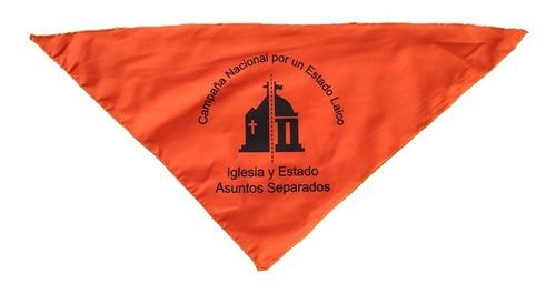 Pañuelo Naranja Campaña Estado Laico Mercado Libre