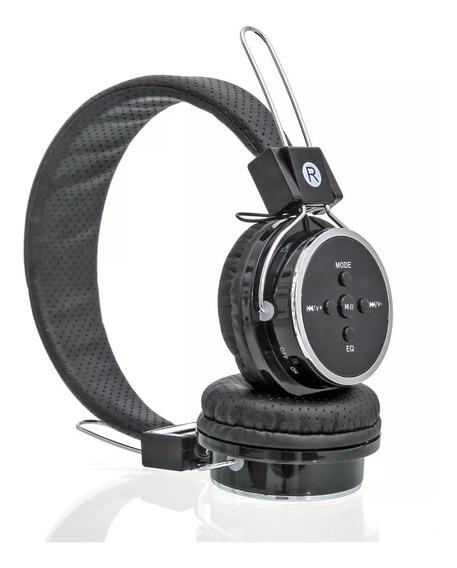 Fone De Ouvido Bluetooth Estéreo P2 Ajustavel Fm Usb Sd Aux