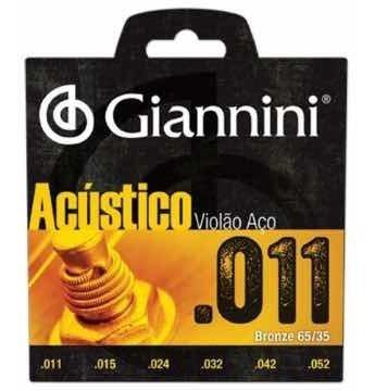 Encordoamento P/ Violão Aço 011 Bronze Gespw Giannini