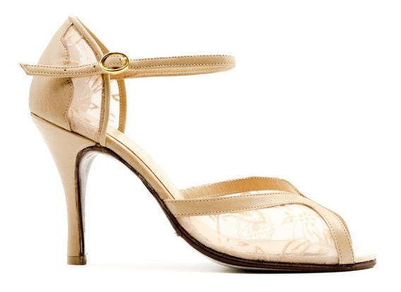 Zapatos De Baile,tango,fiesta,salsa Billone Con Cuero
