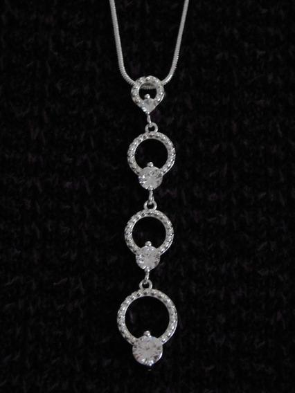 Collar Con Dije (círculos) En Plata 925