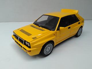 Miniatura Lancia Delta Hf Gialla 1:18 Kyosho Na Caixa
