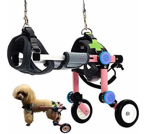 Imagen 1 de 6 de Silla De Ruedas Ajustable Para Perros,, Ayuda A Las Mascotas