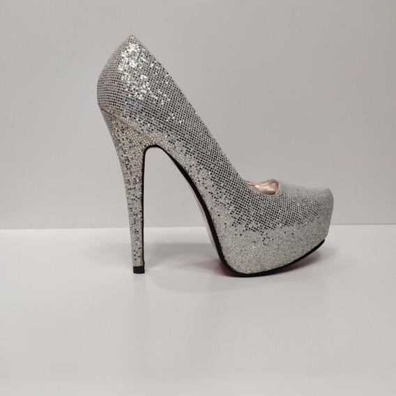 Zapato Dama Taco Aguja De 15 Cm Espectaculares