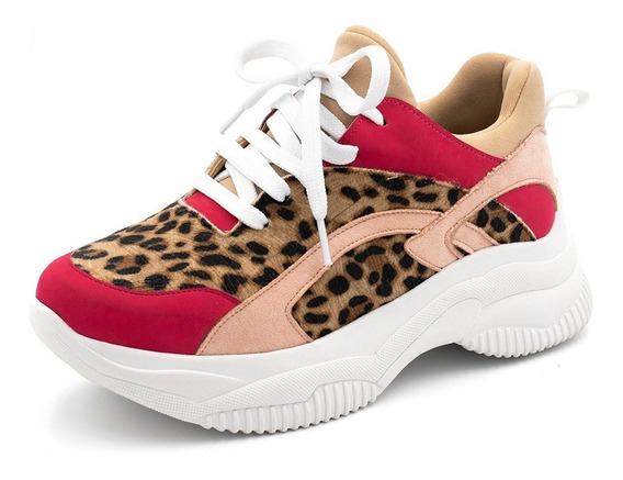 Tênis Feminino Academia Fitnes Snake Chunky Shoes