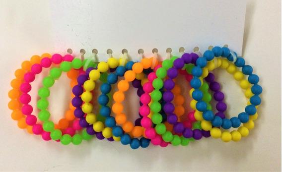 Pulseras De Silicona. Varios Colores. Pack De 12.