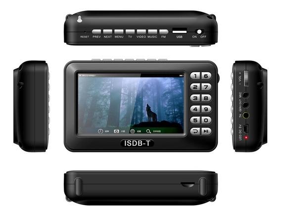 Mini Tv Digital Portatil Videos Fotos Filmes Radio Fm Cartão