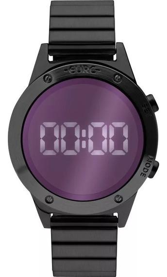 Relógio Euro Feminino Digital Espelhado Preto Original