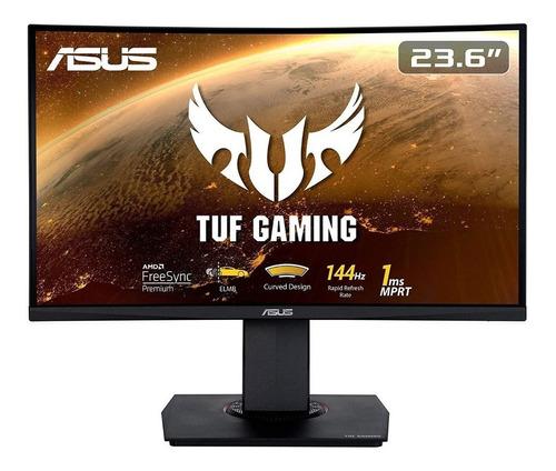 "Monitor curvo Asus Tuf Gaming VG24VQ led 23.6"" negro 100V/240V"