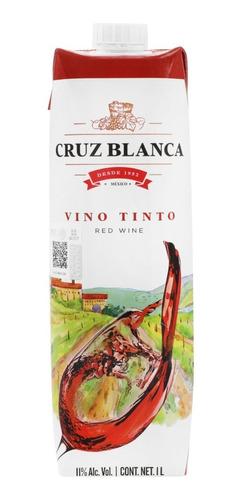 Imagen 1 de 6 de Vino Tinto Cruz Blanca Tetra Brick 1 Litro