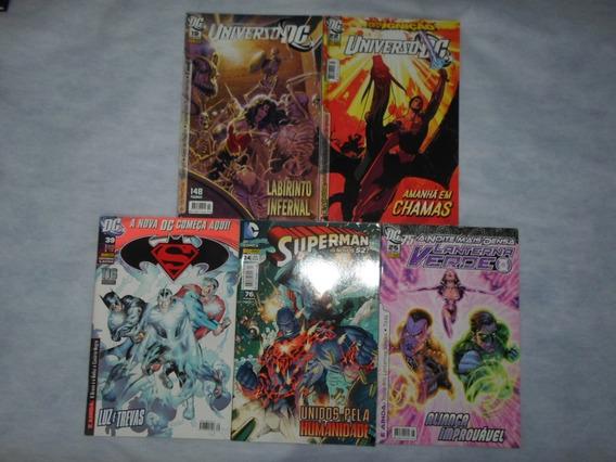 Lote Com 5 Hqs Universo Dc Superman E Lanterna Verde