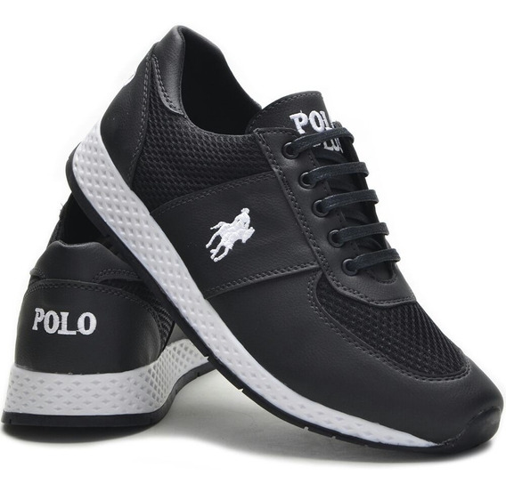 3 Pares Tênis Masculino Polo Plus Jogging Original