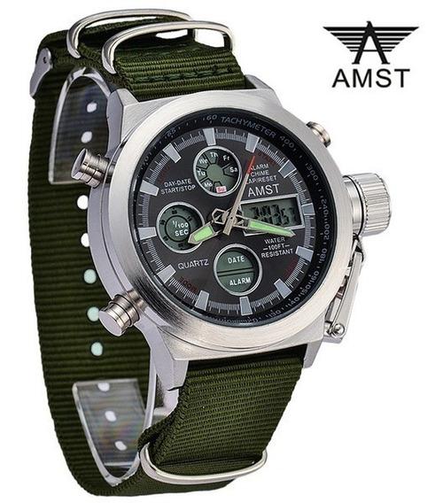 Reloj Militar Amst Original Importado Hombre
