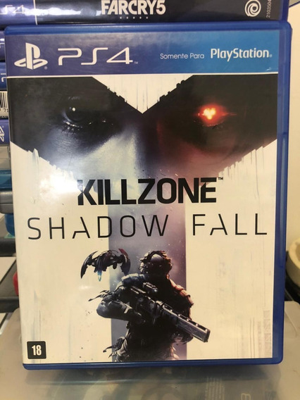 Jogo Ps4 Killzone Shadow Fall Mídia Física Capa Azul Veja!!