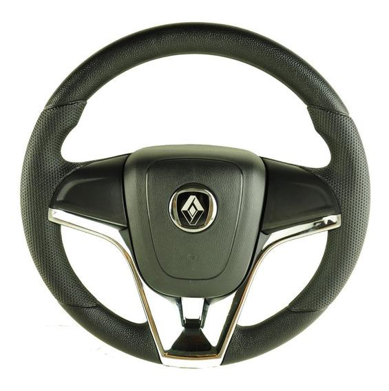 Volante Esportivo Cr Renault Clio Logan Sandero Cubo Cromado