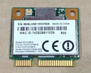 Placa Wifi Rtl8188ce Notebook Exo Hr14/nbx Nb1502u