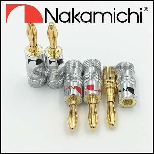 8 Plug Banana Nakamichi Original Made In Japan 4v & 4p.