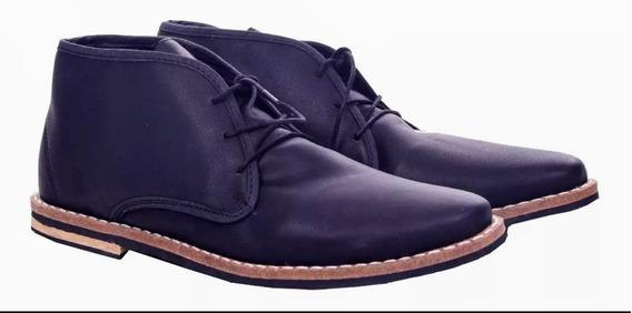 Zapatos Hombre Cuero Ecologico Botitas Talle 42