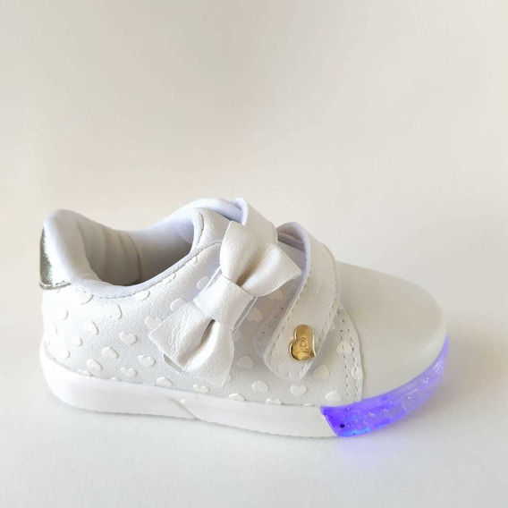 Tênis Infantil Pampili Menina Baby Com Luz (led)