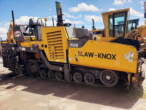 Pavimentadora Blaw Knox Pf6110 Motor Cummins