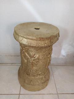 Mesa Lateral Dorada Columna Vintage
