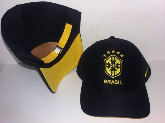 Boné Do Brasil Seleção Preto