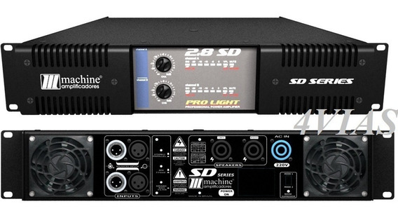 Amplificador De Potência Machine Sd2.5 1.400w Rms Lj 4vias