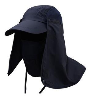 Gorra Protección Solar Cubre Rostro Y Cuello Camping Pesca