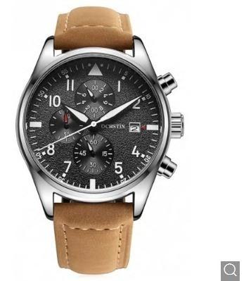 Relógio Masculino Social De Luxo Pulseira De Couro Promoção