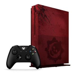 Consola Xbox One S 2tb Edicion Gears Of War 4 Rojo Original Caja Generica + Control Inalambrico Original Negro