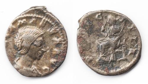 Imagen 1 de 1 de Moneda Romana Denario, Emp. Julia Maesa, 218 - 224 Dc. L176