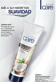 Crema Avon Care Para Manos Aceite De Coco 75 Gramos