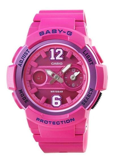 Relógio Casio Pink Feminino Baby-g Anadigi Bga-210-4b2dr