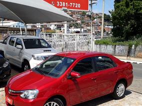 Toyota Etios Sedán 2015 1.5 Xls Unico Dono Couro Flex
