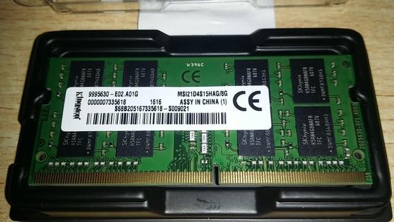 Memoria Ram Kingston Sodimm Ddr4-2133 8gb Notebook Laptop