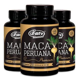 3x Maca Peruana Premium 100% Pura Original -360 Cáps - Nf