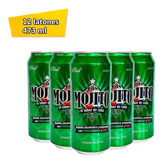 Pack 12 Latas Ron Mojito Bebida Preparada Latón 473 Ml