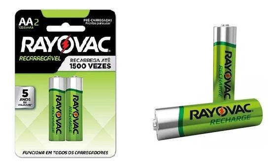 Pilhas Recarregáveis Aa2 Rayovac 1350 Mah