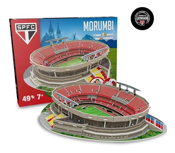 Mini Estádio Do São Paulo Morumbi Maquete Oficial P/ Montar