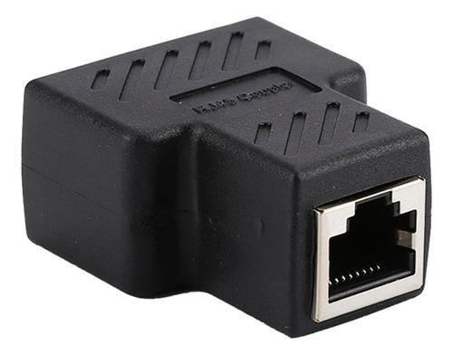 Imagen 1 de 6 de Rj45 Cat5 Cable Ethernet Puerto Lan 1 A 2 Adaptador De