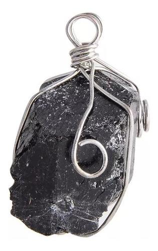 Collar Dije Turmalina Negra Natural Artesanal