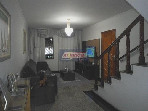 Sobrado Residencial À Venda, Jardim Santa Mena, Guarulhos. So0458 - Ai2133