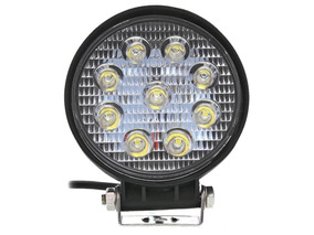 Farol De Milha Led Redondo 12~24v 27w Jeep Troller Pick-up