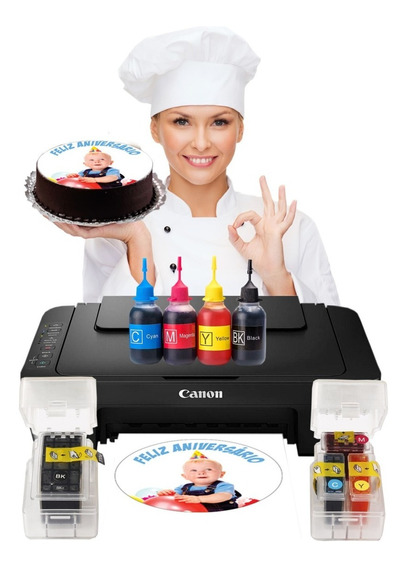 Impressora Mg2510 Papel Arroz Mas Tinta E Papel