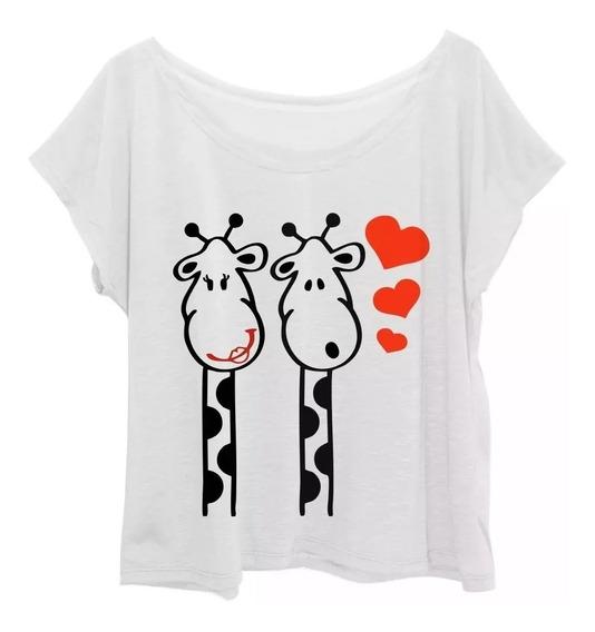 Camiseta T-shirt Estampada Girafa Love Plus Size Até G3 (56)