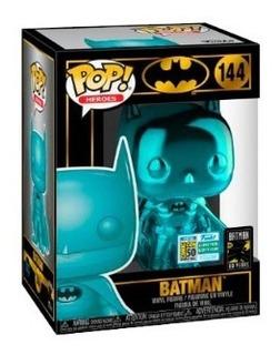 Funko Pop Batman Blue Chrome Ccle Dc #144